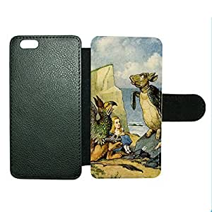 Case Fun Case Fun Alice in Wonderland The Mock Turtle Faux Leather Wallet Case Cover for Apple iPhone 6 4.7 inch
