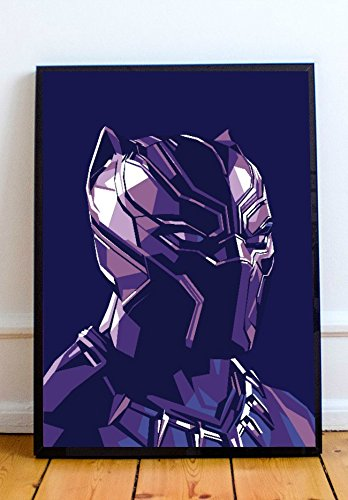 Black Panther Limited Poster Artwork - Professional Wall Art Merchandise (More Sizes Available) - Memorabilia Black
