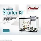 CLASSICA COMPLETE AQUARIUM GLASS FISH TANK STARTER KIT WITH FILTER GOLDFISH (AT670 Starter Kit 30L)