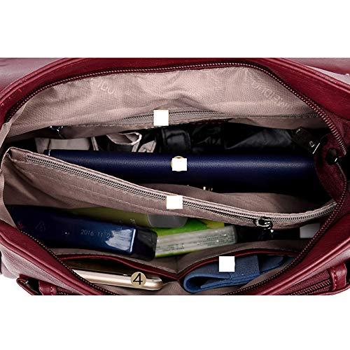 Blue Classic Black Fourre Zipper à Capacité Sac Femmes main Grande Main PU sac Crosstote Sacs pour QZTG Tout Bandoulière Sacs rouge À À qaPUwvC