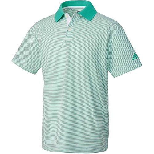 アディダス Adidas 半袖シャツ?ポロシャツ マイクロストライプ 半袖ポロシャツ ジュニア ハイレスグリーン 130