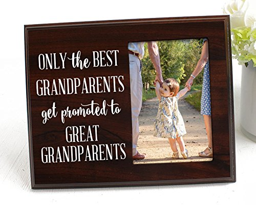 Only the Best Grandparents Get Promoted Gift for Grandparents Ultrasound picture frame Gift for Great Grandpa Ultrasound gift