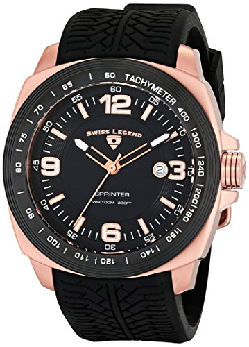 Swiss Legend Men's 21045-RG-01-BB Sprinter Analog Display Swiss Quartz Black Watch