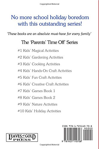 Kids' Cooking Activities (The Parents' Time Off Series) (Volume 3 ...