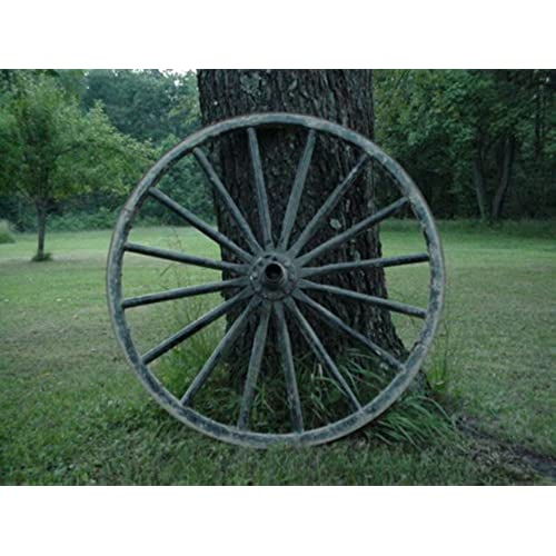 USED Amish Country Collectible Authentic Wagon Wheel Off An Amish Horse  Buggy Carriage From The Farming Community Of Ohio. Size May Vary From 34  Inches Up ...