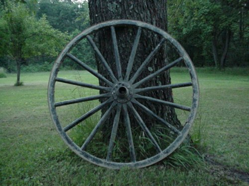 (USED Amish Country Collectible Authentic Wagon Wheel Off an Amish Horse Buggy Carriage From the Farming Community of Ohio. Size May Vary From 34 Inches up to 44 Inches Tall. The Standard Wheel Sizes in Our Local Old Order Amish Communities Are 38