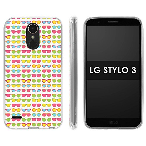LG Stylo 3 Soft Mold [Mobiflare] [Clear] Thin Gel Protect Cover - [Sunglasses] for LG Stylo 3 [5.7
