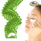 #4: Eye Gel Pads, Teenitor Eyelash Extension Gel Patches Kit, Under Eye Patches Lint Free, 50 Set, Green