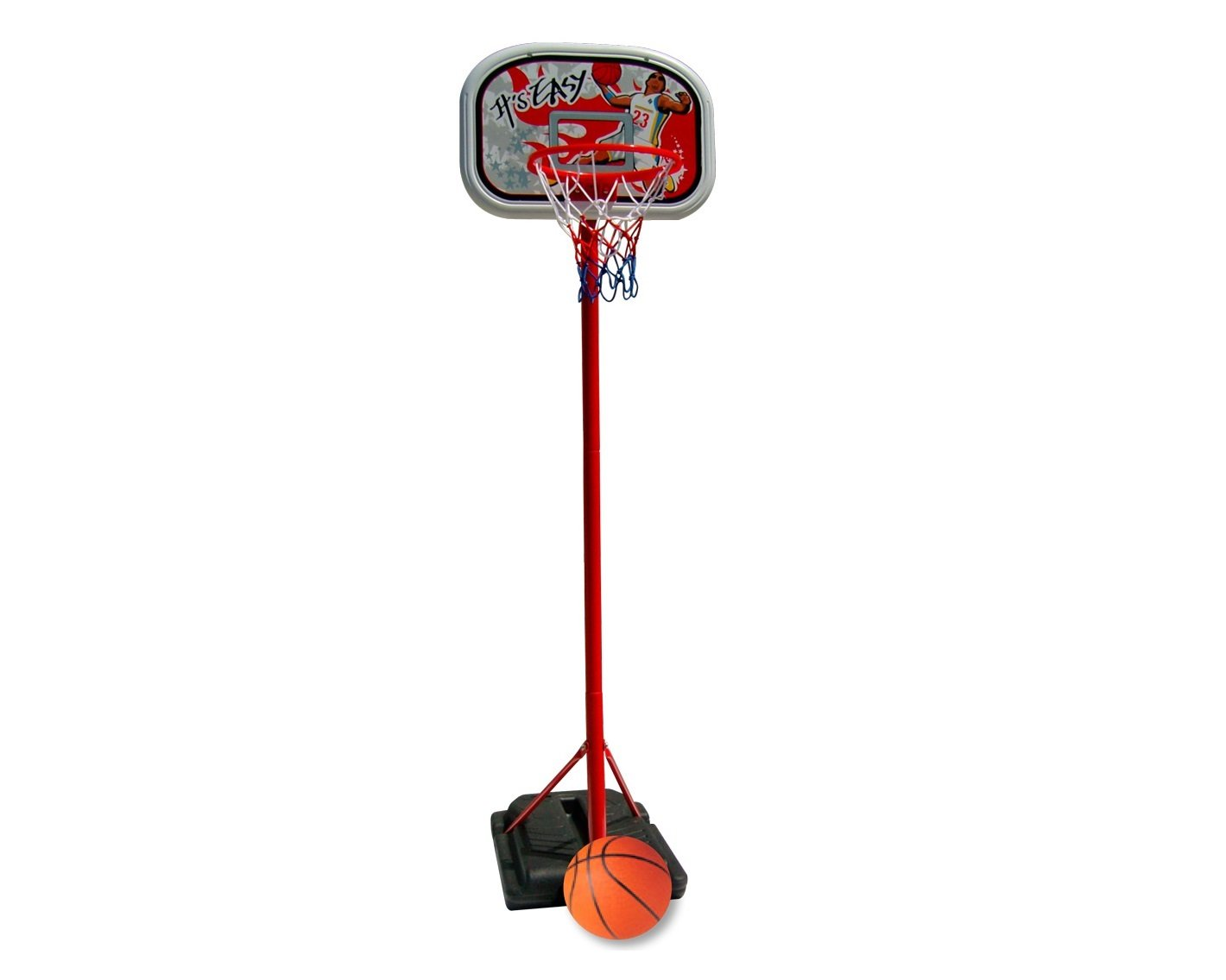 New Plast CB1607 - Jets Set da Basket con Piantana in Metallo, Altezza 185 cm