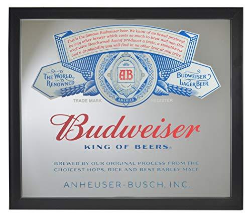 (Budweiser Label Script Mirror 12 x 14)