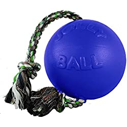 Jolly Pets 4.5-Inch Romp-n-Roll, Blue