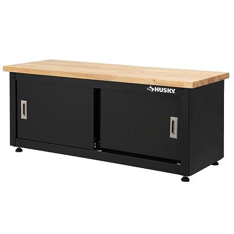 Groovy Husky 20 In H X 48 In W X 18 In D Steel Storage Bench Creativecarmelina Interior Chair Design Creativecarmelinacom