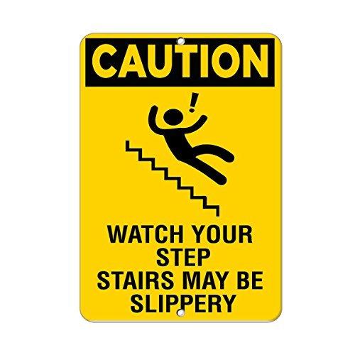 Cartel de advertencia de advertencia para ver tus escaleras ...