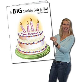 Amazon Extra Large Bday Greeting Card With Envelope 85 X 11