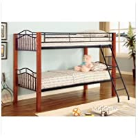 Elk City Twin/Twin Wood and Metal Bunk Bed in Black