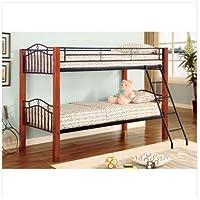 Elk City Twin/Twin Wood and Metal Bunk Bed in Black