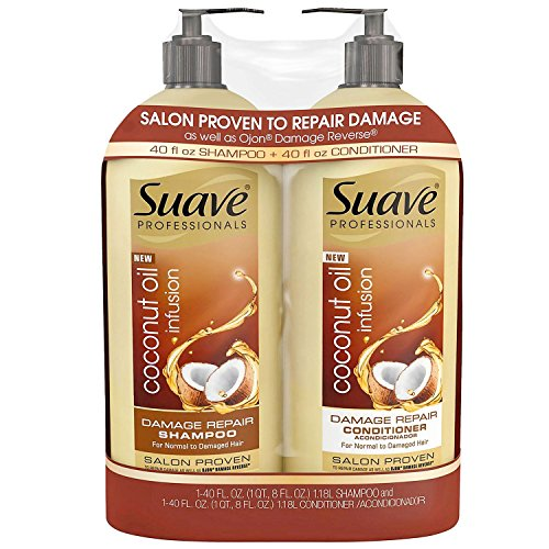 Coconut Suave Shampoo (Product of Suave Professionals Coconut Oil Infusion Damage Repair Shampoo, 40 oz. and Conditioner, 40 oz. - Hair Treatments [Bulk Savings])