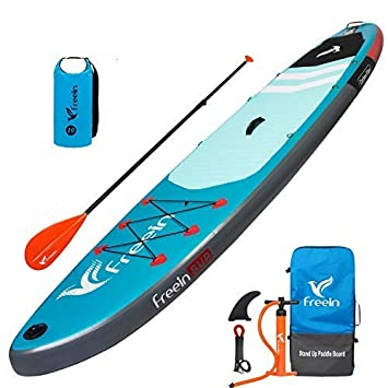 Freein Explorer SUP Inflatable Stand Up Paddle Board MSL ISUP 10 2 11 Long 33 Wide with Sport Camera Mount Package