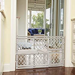 Gate for Dog, Cats - Portable Pet Gate - Dog Doors - Cat Doors, Gates & Ramps, Light Gray - (26-42 INCHES, Height : 23 inches)