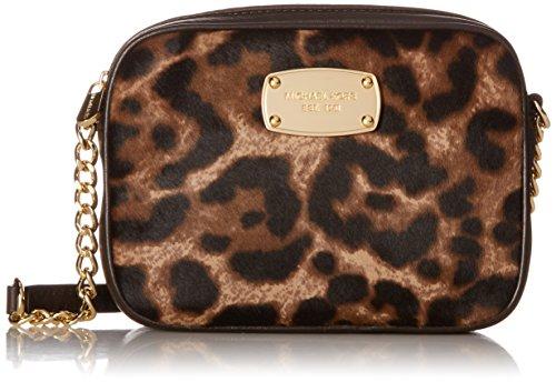Michael Kors Hamilton Leopard Print Haircalf Small Cross-body - Leopard Mk Bag