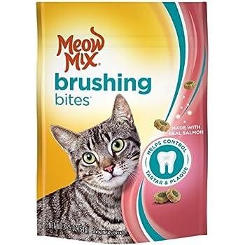 Amazon.com : Meow Mix Brushing Bites Dental Cat Treats, Salmon Flavor, 2.25oz (Pack of 2) : Pet