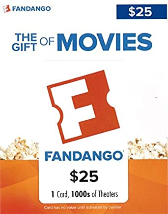 Amazon.com: Fandango Gift Card $25: Gift Cards