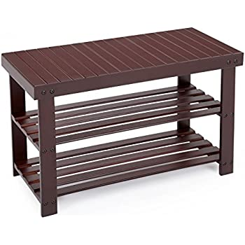 shoe furniture. songmics entryway bamboo shoe bench 2tier rack organizer brown ulbs04z furniture n