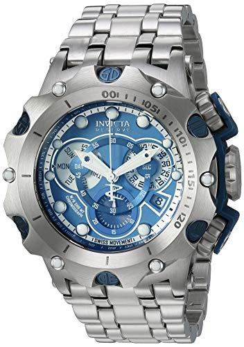 Invicta Men's Reserve Quartz Watch with Stainless Steel Strap, Silver, 28.2 (Model: 27787)