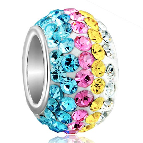 - ThirdTimeCharm Multicolor Birthstone Charms Swarovski Elements Crystal Beads For Bracelets
