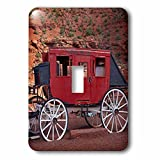 Navajo Nation, Monument Valley, stage coach at Gouldings Trading Post Light Switch Cover is made of durable scratch resistant metal that will not fade, chip or peel. Featuring a high gloss finish, along with matching screws makes this cover the perfe...