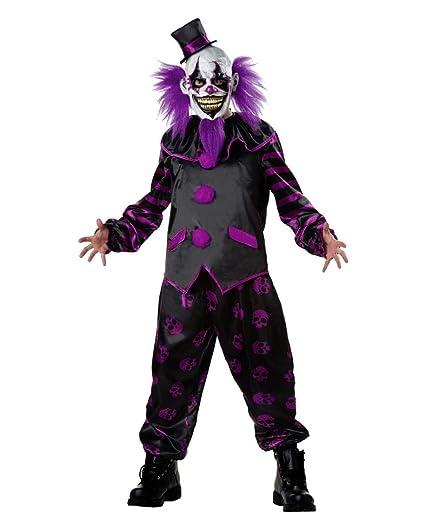 traje de payaso de terror con la máscara One Size: Amazon.es ...