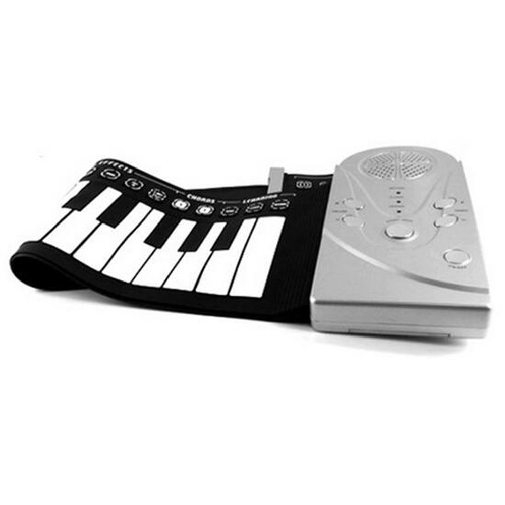 E Support™ Portable Electronic Piano Keyboard with Full 49 Soft Responsive Keys Silicone Rubber Keyboard Soft Roll Up Piano by E Support (Image #7)