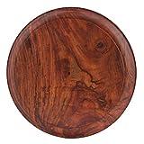 Fine Craft India Wooden Round Fine Carved Brass