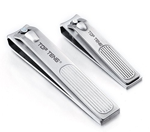 top-tengr-deluxe-brushed-stainless-steel-sharpest-nail-clippers-set-in-gift-box-fingernail-toenail-c