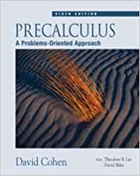 Class notes guide for cohen's precalculus: a problems-oriented