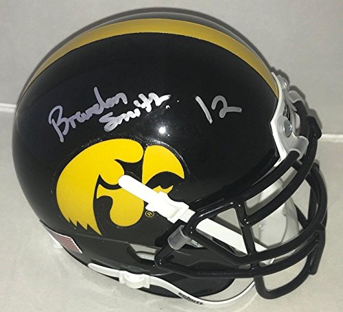 - Brandon Smith signed Iowa Hawkeyes mini helmet autographed Proof - Autographed NHL Mini Helmets