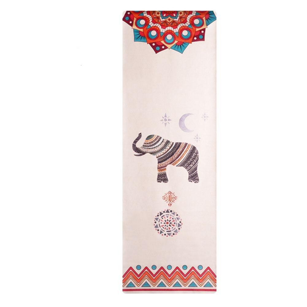 HZJ Yoga Starter Kit-Dauerhafte Yoga Matte Eco Freundliche Non Slip Yoga Matte, NatüRliche Bequeme Yoga Und Pilates Gummimatte,