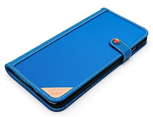 LIM's Designer Cordura Innovation Diary Type Case for iPhone 6 Plus (Blue)