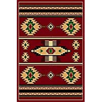 Red 8 X 11 Area Rug Southwestern Apache Native American Rug