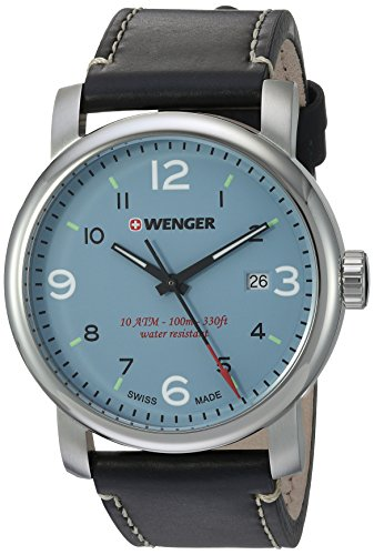 Wenger-Mens-Urban-Metropolitan-Swiss-Quartz-Stainless-Steel-and-Leather-Casual-Watch-ColorBlack-Model-011041137