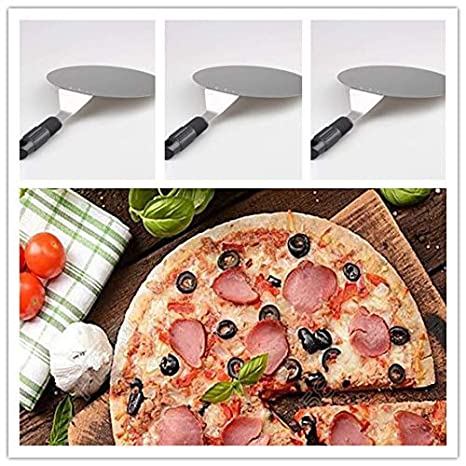 10-Inch Wide Stainless Steel Pizza Peel with Handle Pizza Paddle for Baking Homemade Pizza and Bread 10-Inch x 17-Inch Kitchen Supply