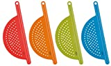Trudeau Pot Drainer - Set of 4 Assorted Colors
