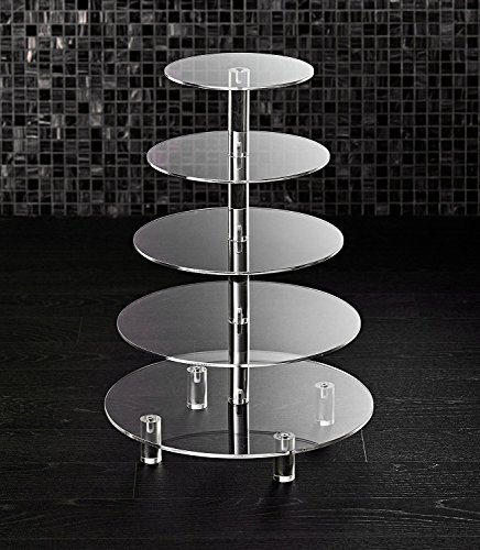 Hayley Cherie 5 Tier Round Cupcake Stand Acrylic Tiered