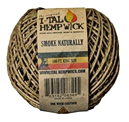 1 X I-Tal Hemp Wick 100ft King Size Spool Hemp & Beeswax by I-Tal