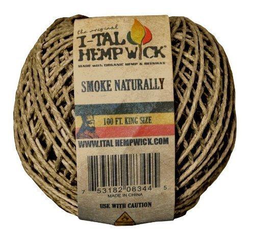 1 X I-Tal Hemp Wick 100ft King Size Spool Hemp & Beeswax by