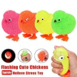 chicken and pineapple - Stress Relief Toys - Cute Light Up Chickens Squeeze Toy by Coerni