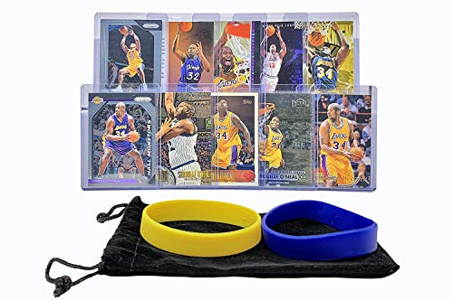 Shaquille O'Neal Basketball Cards Assorted (10) Bundle - Orlando Magic, Los Angeles Lakers Trading Card Gift Pack