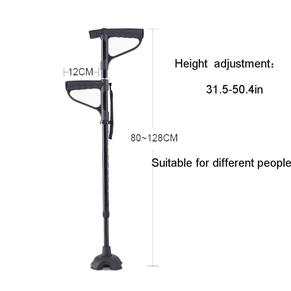 Amazon.com: XRX 2-in -1 Adjustable Quad Cane Lightweight Walking Stick for Men, Women and Elderly Walking Cane with Double Handle Hand Crutch with LED Light ...