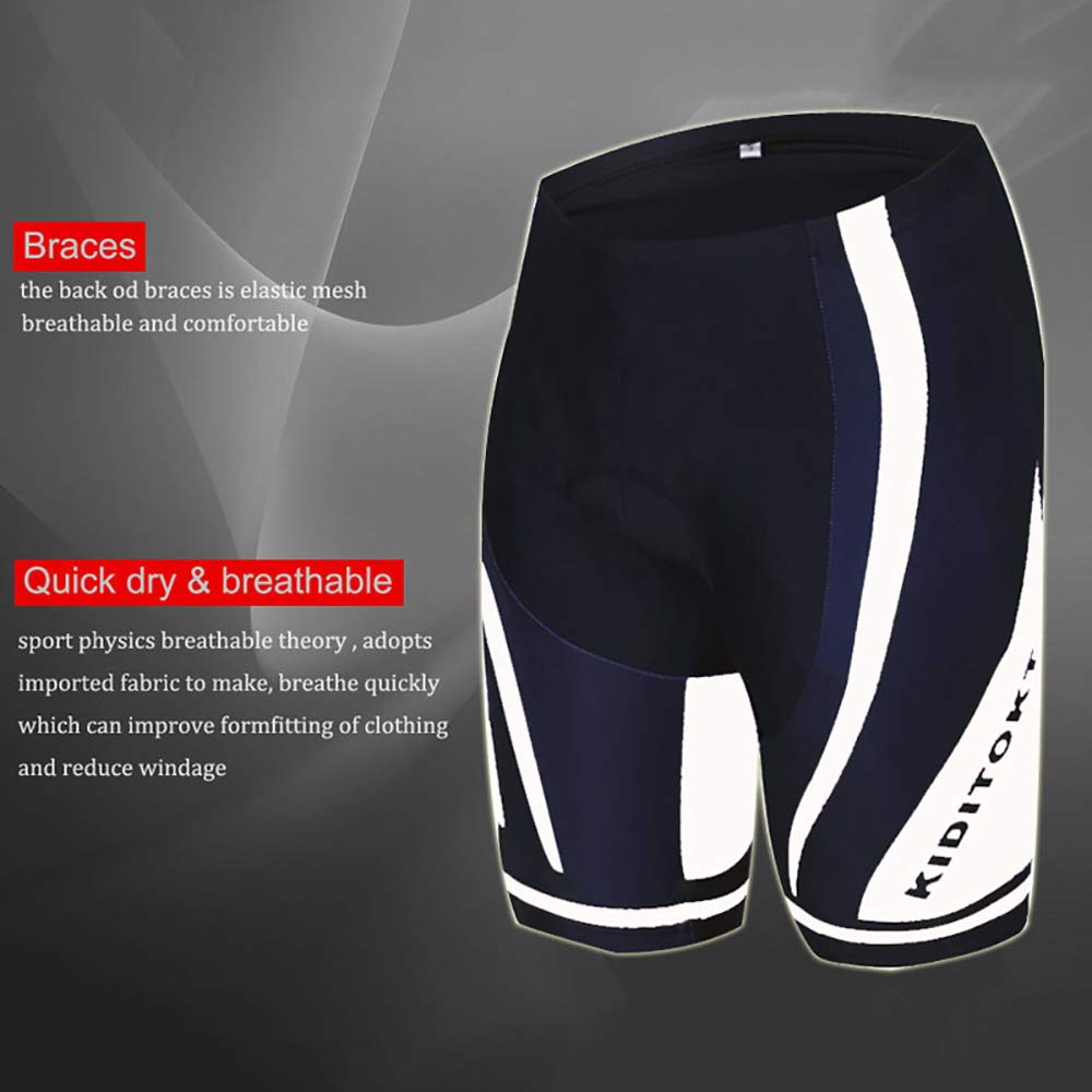JINFUDA Radtrikot Set Herren Radsportbekleidung Set Atmungsaktiv Schnelltrocknend Antibakterielles Anti-UV Cool Down Kurze /Ärmel Kurze Hose mit 3D-Gel-Sitzpolster zum Reiten