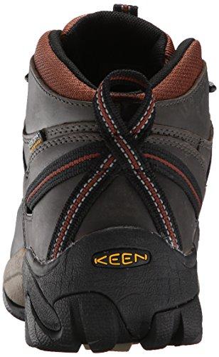 KEEN Mens Targhee II Mid Waterproof Hiking Boot Raven/Tortoise Shell d5VtRULN